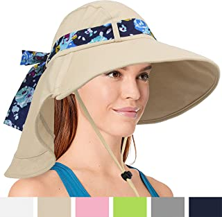 SUNCUBE Sun Hat with Soft Flap and Wide Brim