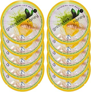 Spa Life Green Tea and Honey Repairing Hair Mask 10 count