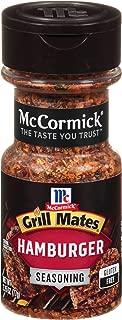 McCormick Grill Mates Hamburger Seasoning, 2.75 Ounce (Pack of 1)