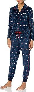 Women's Long Sleeve Super Soft Minky Fleece Pajama Set