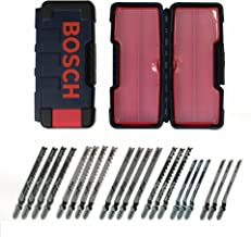 Bosch TW21HC 21-Piece T-Shank Woodworking Jig Saw Blade Set