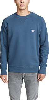 Men's Long Sleeve Sweatshirt with Tricolor Fox Patch
