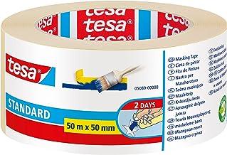 tesa 210267 Cinta de Pintor, Standard, 50 m x 50 mm
