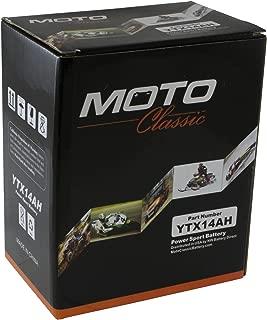 Moto Classic YTX14AH 12V 14Ah High Performance Maintenance Free 230CCA Motorcycle ATV Battery