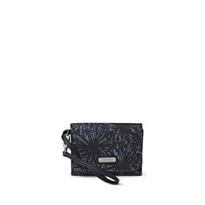 Baggallini Compact Wallet (Onyx Floral) Bags