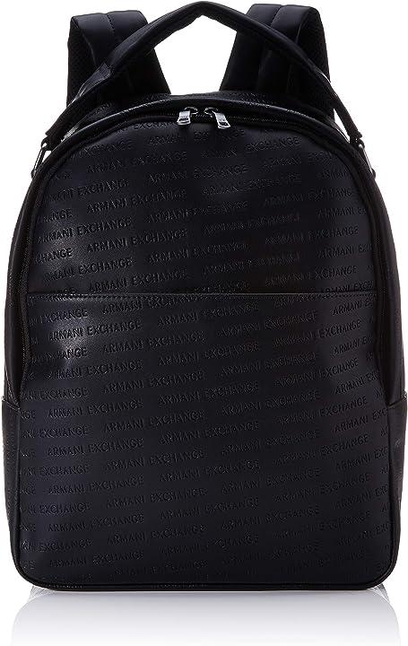 Zaino armani exchange ecopelle ottima qualità - color eco black nero B084WHVXK6