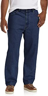 Harbor Bay by DXL Big and Tall Rugged Loose-Fit Jeans