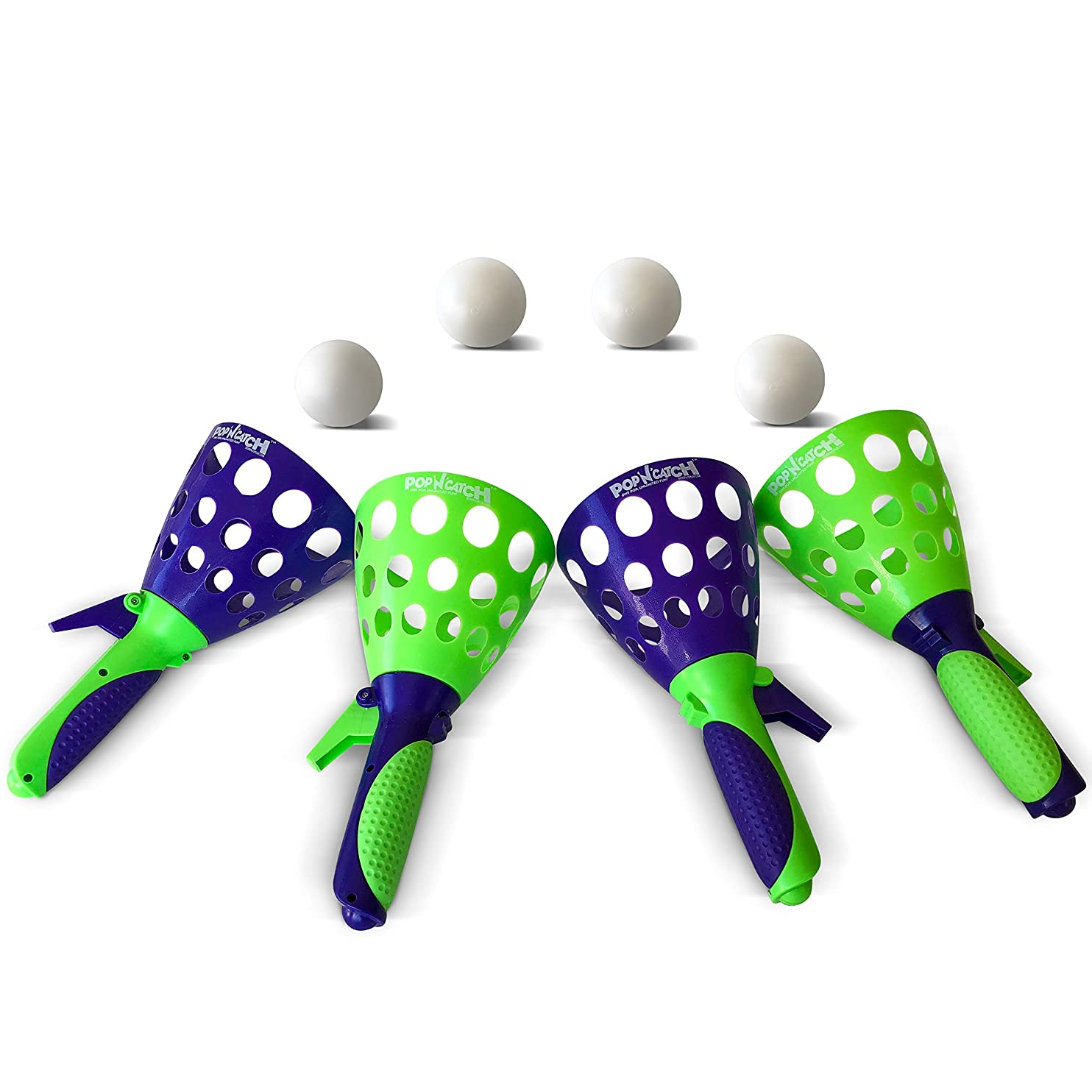 Geospace The Original Pop 'N Catch Game, Set of Four - Perfect for Backyard, Beach, Tailgate | Fun for Kids and Adults cdbzrqqbldu34