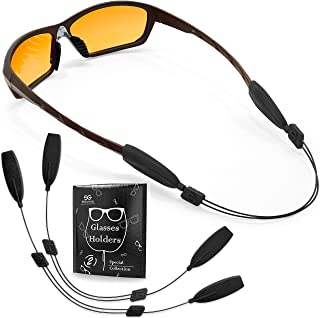 Sponsored Ad - Glasses Strap String Holder - No Tail Eyeglasses Strap Holders - Eye Glasses Accessory Chain - Wired Eyegla...
