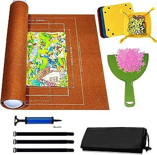 Puzzle Roll Fieltro Puzzles Tapete Puzzle Mat para 1500 Piezas, Tapetes Rompecabezas Portátil Enrollable, Estera de almace...