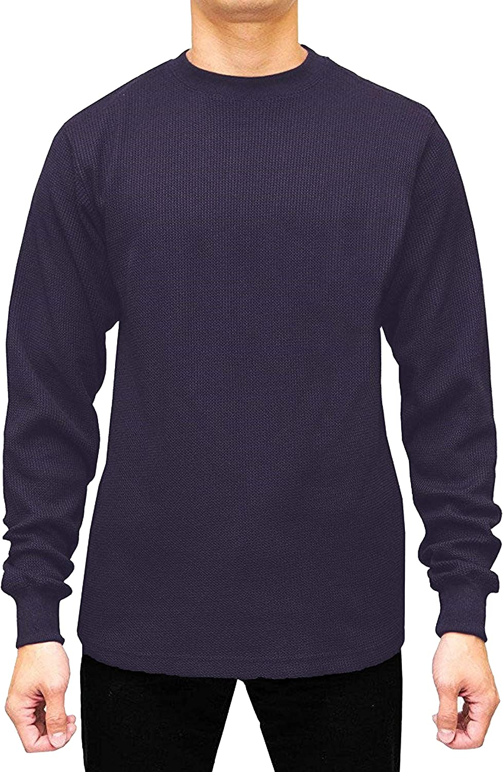 JMR Men's Heavy Weight Thermal Shirt Long Sleeve Top Underwear Colors & Sizes (Large, Navy)