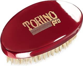 Torino Pro Wave Brush #1500 - By Brush King - Curved, Medium Palm/Military 360 Waves Brush