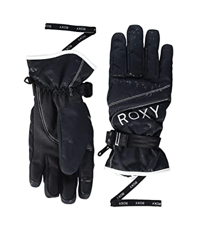 Roxy Jetty Solid Snow Gloves (True Black) Ski Gloves
