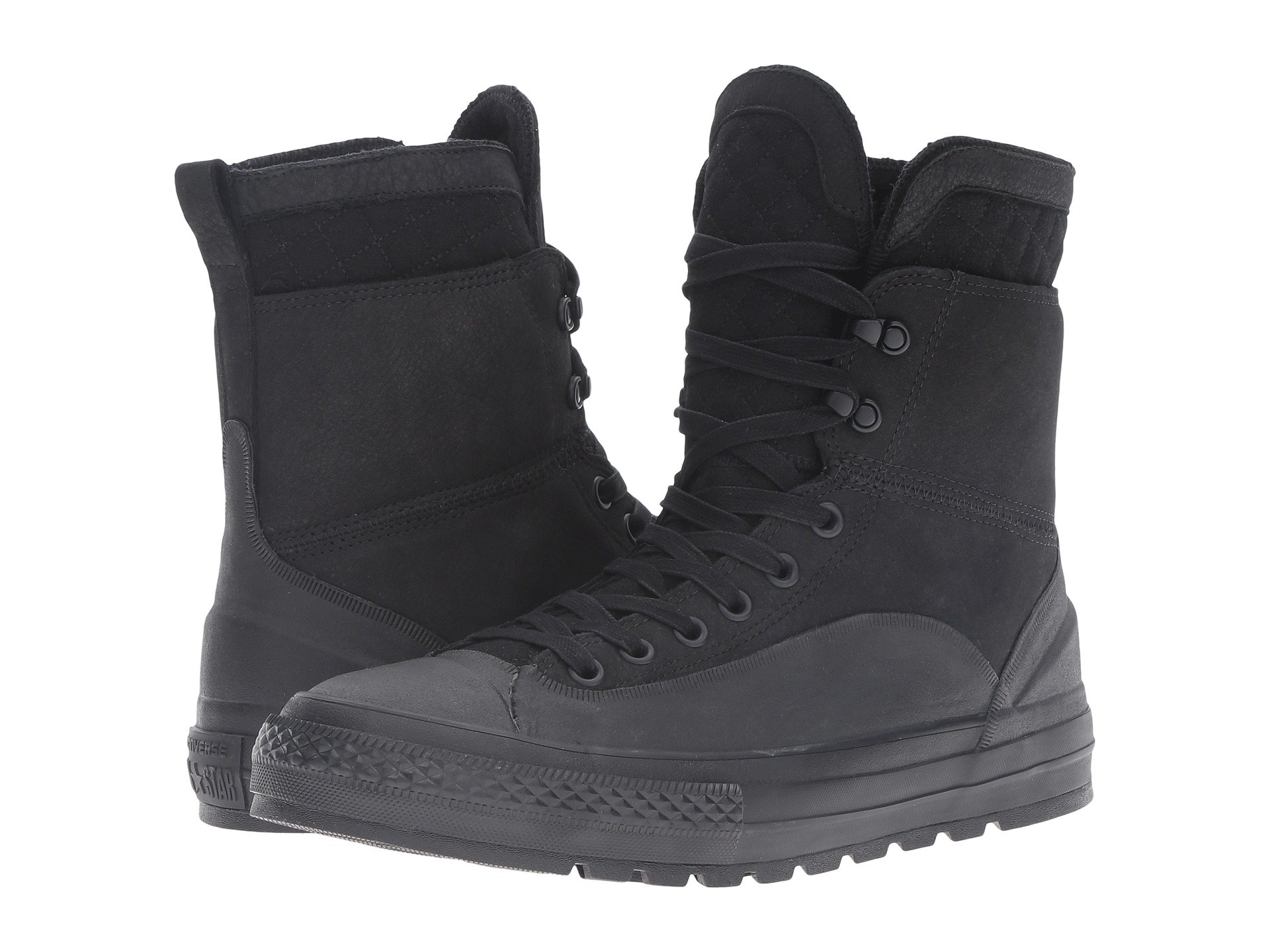 Chuck Taylor® All Star® Tekoa LeatherQuilted Xhi, BlackShale GreyBlack