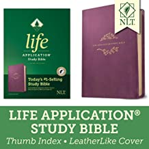 Tyndale NLT Life Application Study Bible, Third Edition (LeatherLike, Purple, Indexed) NLT Bible with Thumb Index, Updated Notes and Features, Full Text New Living Translation Version