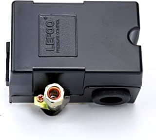 Sellerocity Kit Pressure Switch Compatible With Craftsman Devilbiss Dewalt 5140110-49 Z-D20596 With Thread Tape & 1/4 Inch Hex Nipple For Adapting The Bottom Mount To 1/4 Inch NPT