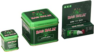 Bag Balm Bundle (8 Ounces, 1 Ounces Tins and On-The-go Tube)