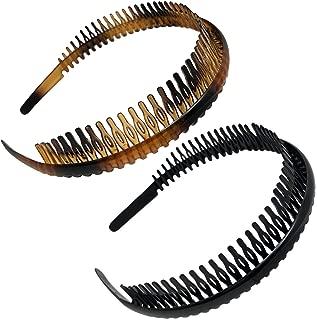 Scunci Effortless Beauty Headbands, 1-Inch Wide, 2-Count (1-Pack)
