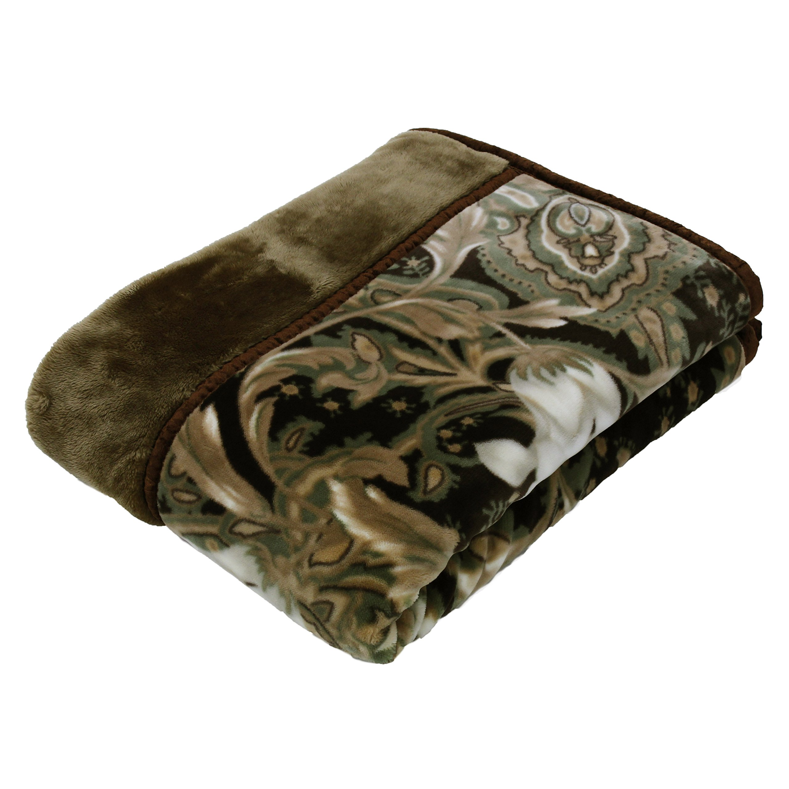 京都西川 毛布 洗える 日本製 衿付き合わせ毛布 ファータッチ 毛皮調 アクリル毛布 肌さわりなめらかな新合繊使用 ダブル 180×210 ベージュ 2K2403D