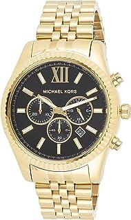 Michael Kors Lexington Men's Black Dial Stainless Steel Analog Watch - MK8286