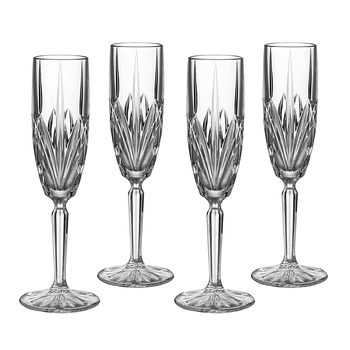 小切手こんにちは衝突Marquis by Waterford Brookside 6-Ounce Champagne Flutes, Set of 4 by Marquis By Waterford