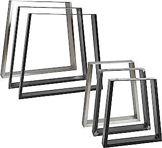 2x Natural Goods Berlin Tischkufen TRAPEZ Design Möbelkufen V-Form Metall Tischbeine scandic | Loft Tischgestell aus Stahl | Tischkuven, (B60/80 x H72cm (Esstisch/Schreibtisch), Edelstahl)