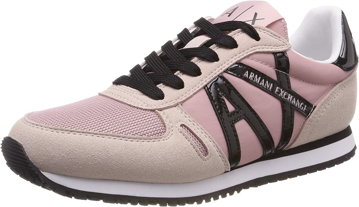 Armani Exchange Exchange Exchange Damen Microfiber Lace Up Turnschuhe  cda244