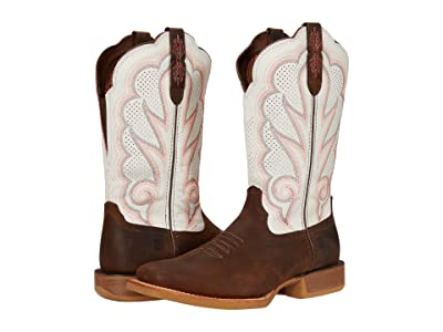 Durango Lady Rebel Pro White Ventilated 12 (Trail Brown/White) Women