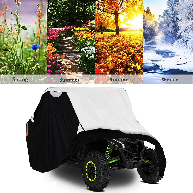 Side by Side UTV Cover with Storage Bag M 114/'/'x65/'/'x75/'/' Fit Polaris Yamaha Can-Am Honda Kawasaki UTV Cover 420D Waterproof Oxford Fabric Max 2-3 Passenger UTV Storage Cover