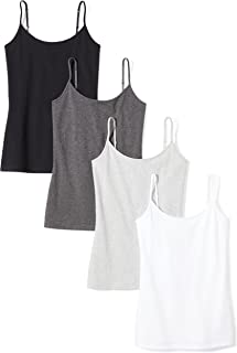 Amazon Essentials womens 4-Pack Camisole Cami Shirt