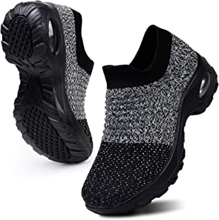 HKR Women's Walking Shoes Arch Support Comfort Light Weight Mesh Non Slip Work Shoes