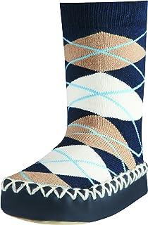 Zapatillas con Suela Antideslizante Plaid, Pantuflas Unisex bebé