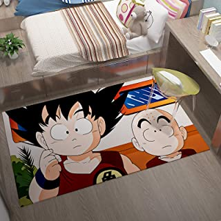 GOOCO Tapis Anime Dragon 3D Tapis Antidérapant Dragon Ball Z Anime/Cartoon Tapis pour Salon, Chambre À Coucher, Super Saiy...