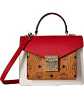MCM - Patricia Visetos Leather Block Satchel Small