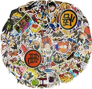 Dragon Ball Cool Vinyl Sticker 100PCs Love Laptop DBZ Stickers Decal Film Skateboard Guitar Case Car Bike Stumper Luggage Door Decoration for iPhone Mac Book Huawei Bottle Kid Adult Children (100pcs)