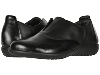 Naot Karo (Black Madras Leather/Jet Black Leather) Women