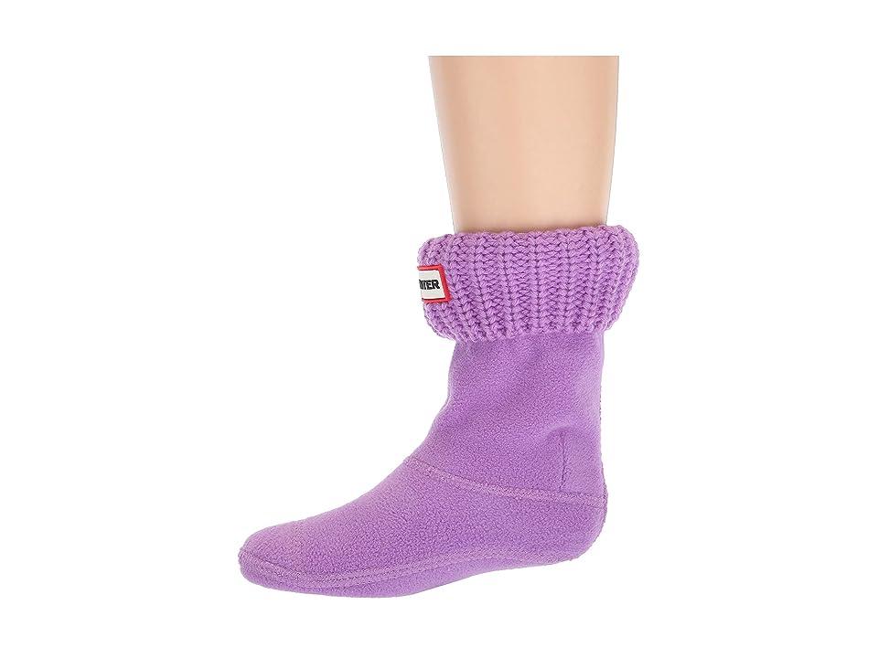 Hunter Kids Half Cardigan Boot Sock (Toddler/Little Kid/Big Kid) (Thistle) Kids Shoes, Purple