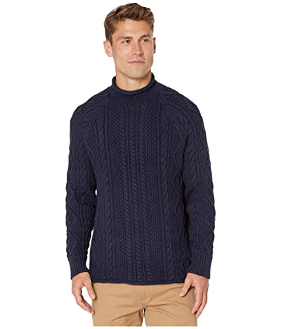 J.Crew 1988 Rollneck Sweater in Cable Knit Cotton (Navy) Men