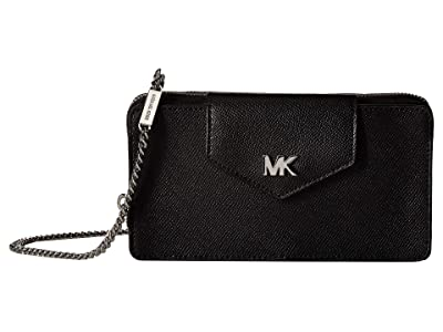 MICHAEL Michael Kors Small Convertible Phone Crossbody (Black) Handbags