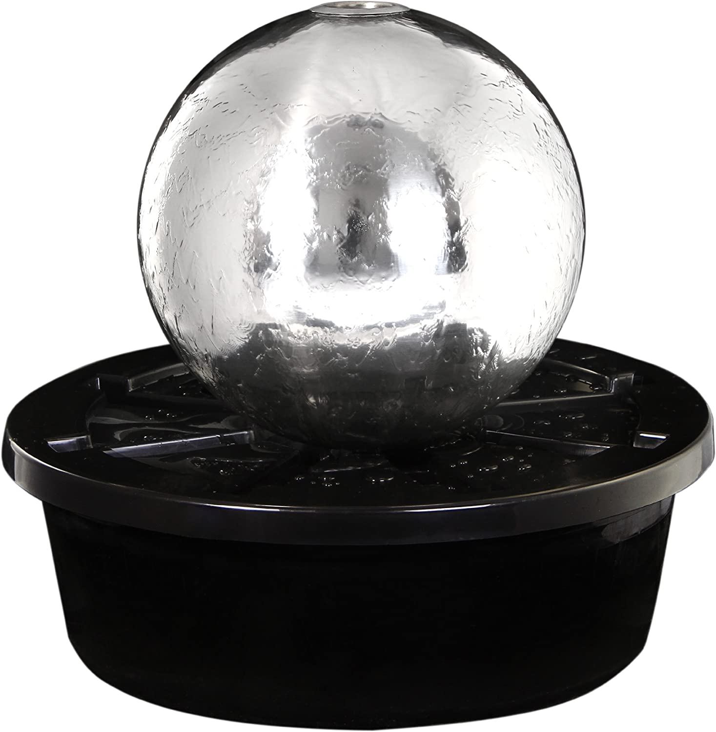 Ambiente Tacana 30cm Stainless Steel Sphere, Fire and Water Feature