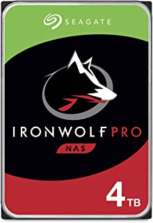 Seagate IronWolf Pro 4TB NAS Internal Hard Drive HDD – 3.5 Inch SATA 6Gb/s 7200 RPM 128MB Cache for RAID Network Attached ...