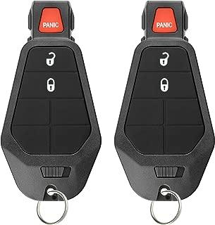 KeylessOption Keyless Entry Remote Control Car Key Fob Starter Clicker for Dodge Chrysler Jeep (Pack of 2)