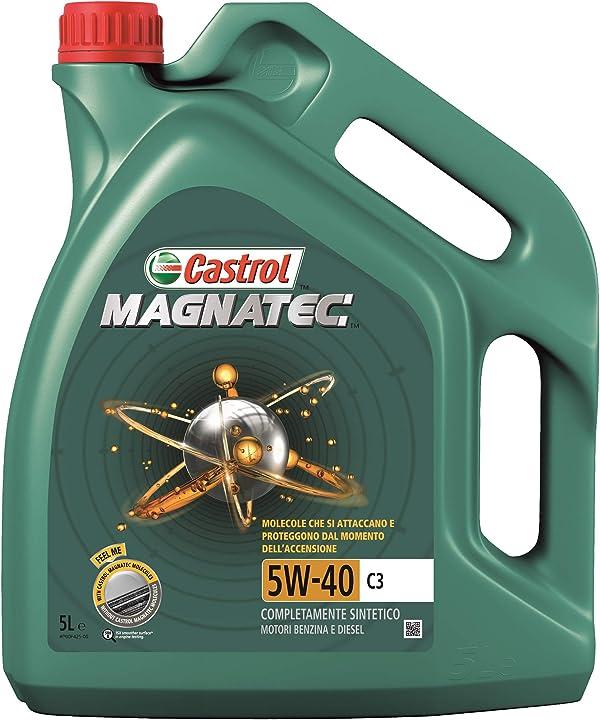 Olio castrol magnatec 5 litri 5w40 c3 lubrificante auto 9115