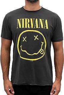 Amplified Herren Nirvana -Smiley T-Shirt