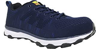 Overstone Men's 4'' Steel Toe Athletic Shoes, Work Safety Sneakers, Lightweight Industrial & Construction Shoe