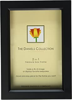 Dennis Daniels Wood Treasure Box Picture Frame, 4 x 6 Inches, Ebony