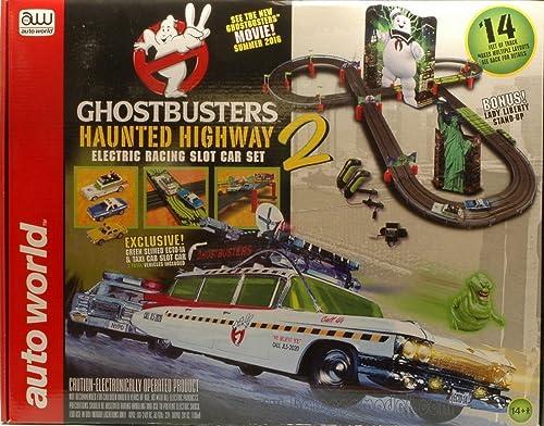 Felices compras AUTO WORLD SRS317 SRS317 SRS317 GHOSTBUSTERS HAUNTED HIGHWAY PISTA SLOT +2 AUTO 1 64 Mt. 4,30  tienda de venta en línea