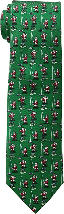 Santa Ice Fishing Printed Tie
