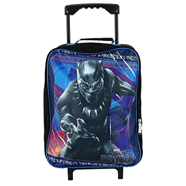 Marvel Kids' Black Panther Rolling Luggage, Blue, Blue, Size one size