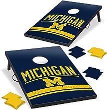 Wild Sports Michigan Wolverines NCAA Cornhole Outdoor Game Set, 2' x 3' Foot - Recreational Series, Tailgate Toss